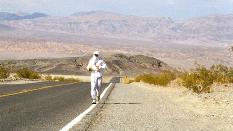 Dean Karnazes hazmat running stay cool heat stroke badwater ultramarathon outside magazine outside online