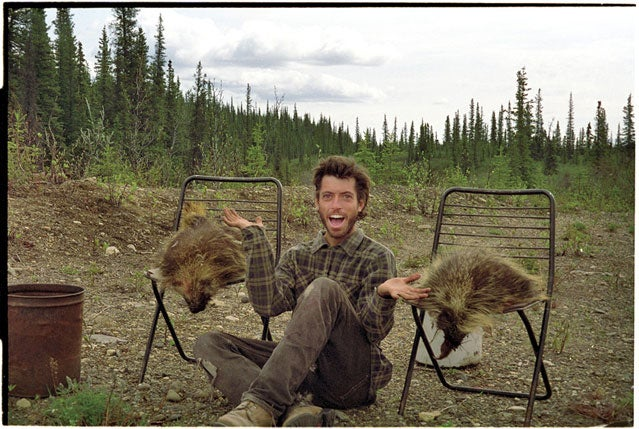 McCandless with two porcupines