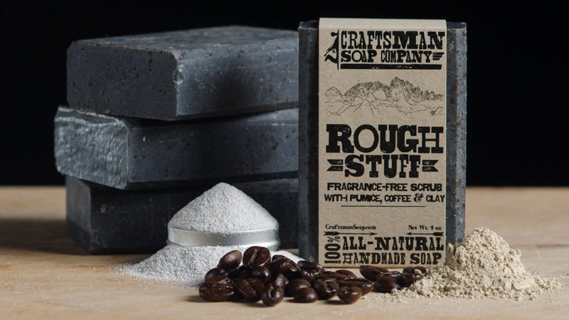 OutsideOnline charcoal uses use not just grilling grill Craftsman Soap Company Rough Stuff exfoliating exfoliate bar soap tough ground pumice walnut shells coffee beans olive coconut avocado oils smooth