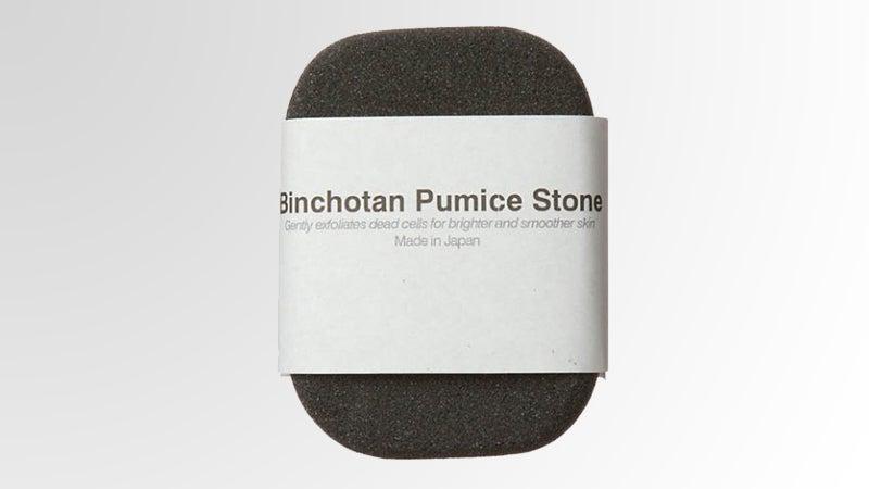 OutsideOnline Morihata Binchotan pumice stone calluses polyurethane foam ultrafine charcoal powder not irritating not odor-causing microbes scrub not just grilling grill use uses