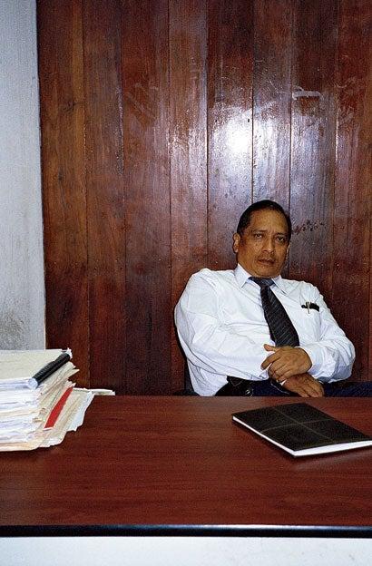 Defense lawyer Ramón Rojas in his Managua office