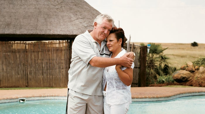 Theo and Marie Dreyer, whose son Deon died in Bushman's Hole, at their home near Vereeniging, South Africa.