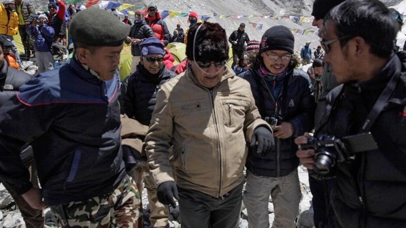 Everest Sherpas Season over Avalanche