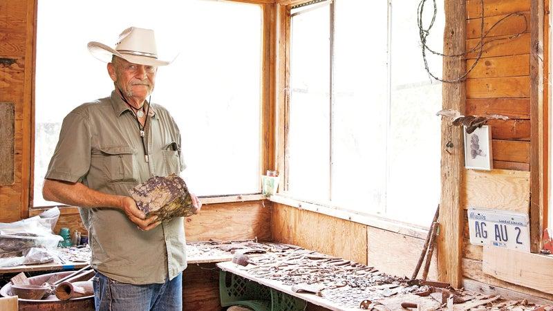 Flint Carter in his workshop.