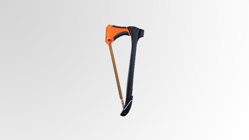 OutsideOnline 4-in-1 Zippo Woodsman part saw hammer axe stake pull 15-inch bow small trees plastic compartment doubles five-inches