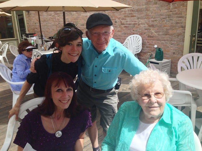 Zina with her mother Cindy, John McConnell, and John's wife, Audrey.