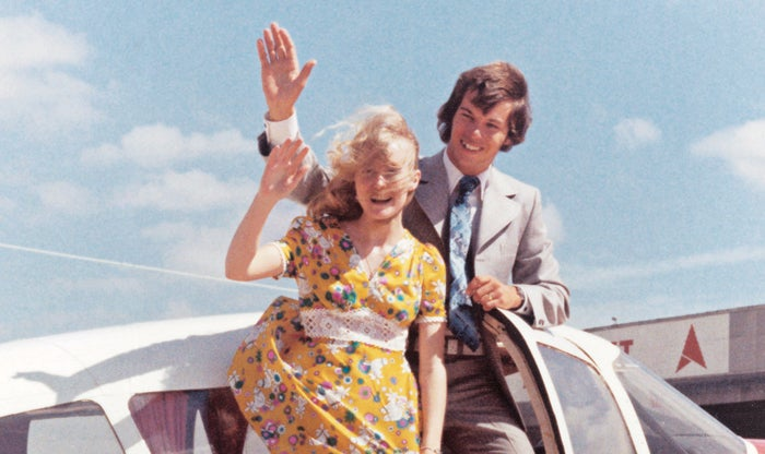 Dave Shaw flew his bride, Ann, from Perth to honeymoon at the seaside town of Albany, Australia, December 1974.