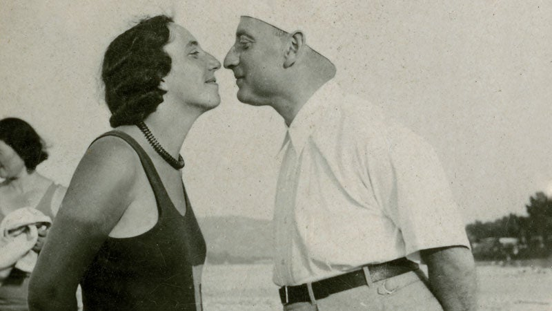 older couple training