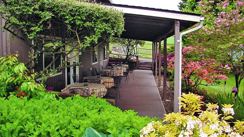 The breakfast patio.