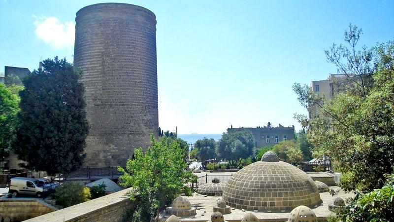 Azerbaijan Baku Baku Old Town Caucasus Maiden's Tower outside online outside magazine sheki