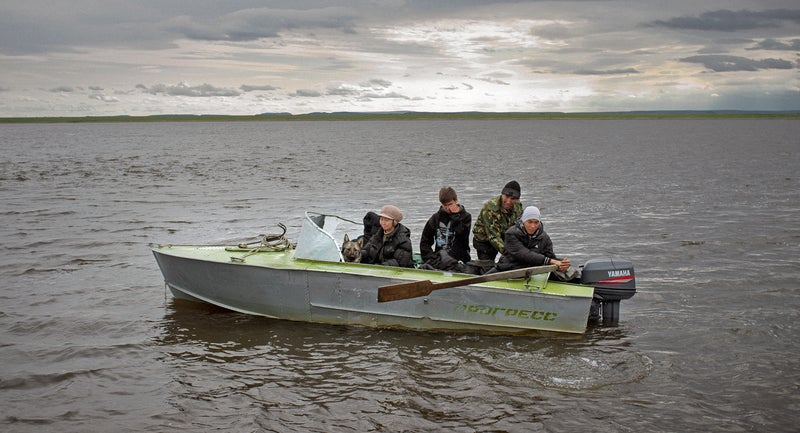 Cruising the Lena Delta. It's a protected scientific nature reserve, with permafrost extending 2,000 feet belowground.