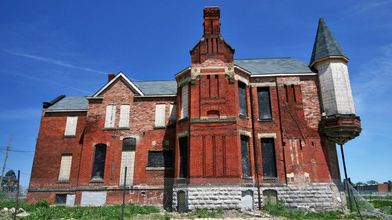 Brush Park detroit michigan abandoned abandoned house vacant lot detroit mansion mansion abandoned mansion outside magazine outside online the go list will grant decay blight victorian home the gillis house urban decay escapes