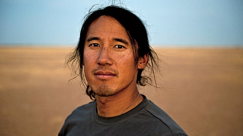 Africa Chad Expedition Jimmy Chin climbing desert rock