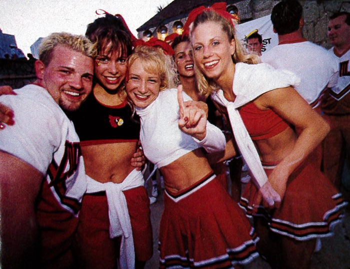cheerleading outside WSU 1998 college best colleges