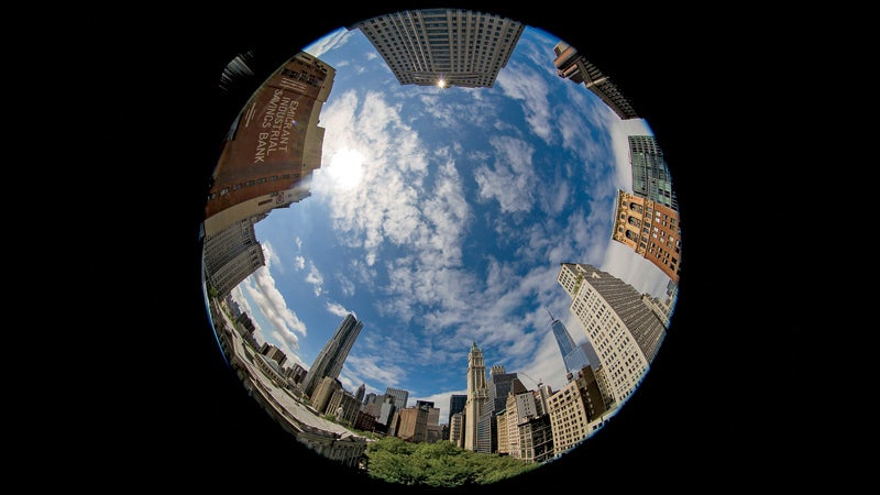 American architecture broad building circle curve diploma distortion economic issues economics extreme finance fisheye lens geometric shape influence lens Manhattan Mid-Atlantic New York City New York State North America North American power prosperity shape sky social issues status USA wall wealth wide wide angle