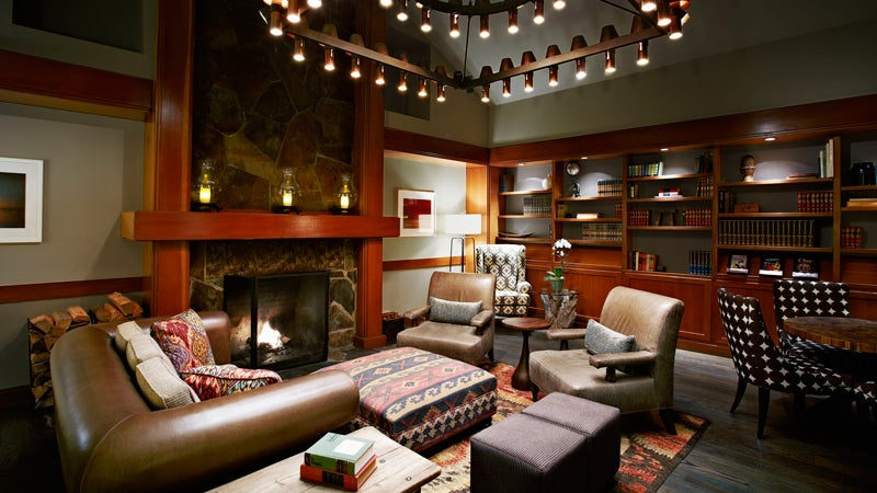 Salish Lodge Seattle resort library spa
