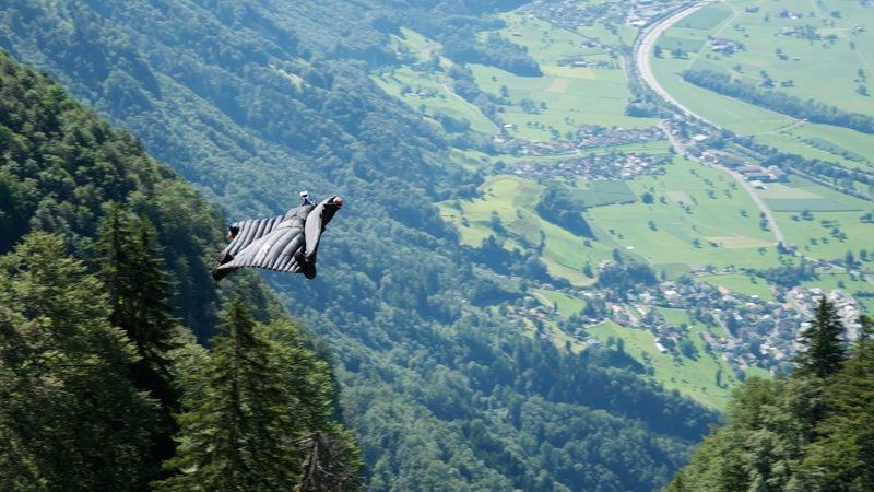 wingsuit, base jump, bird dream