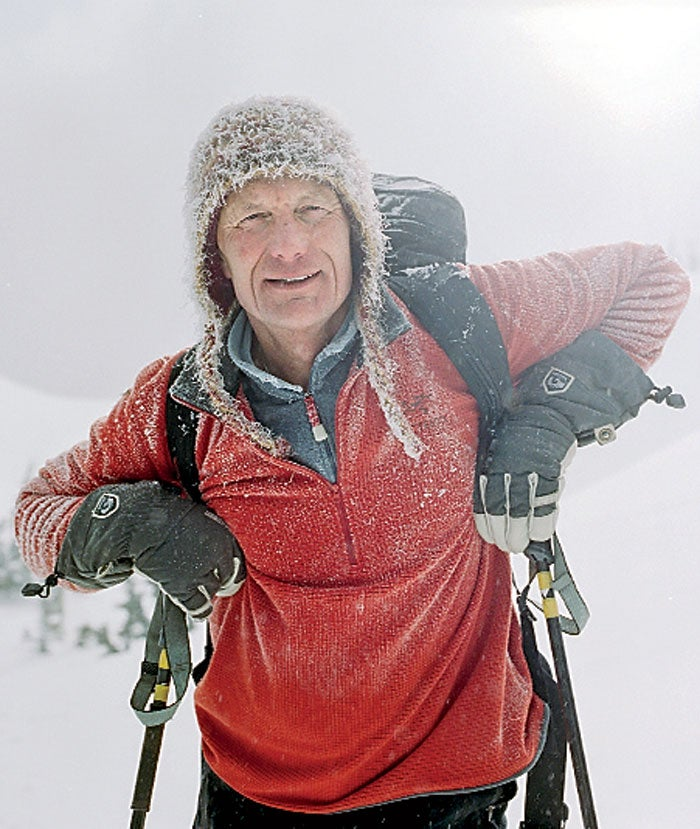 Brian Hall at the Hankin-Evelyn Backcountry Skiing Recreation Area.