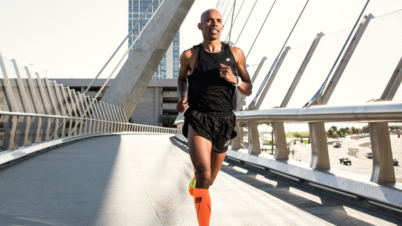 Meb Running outdoor photography