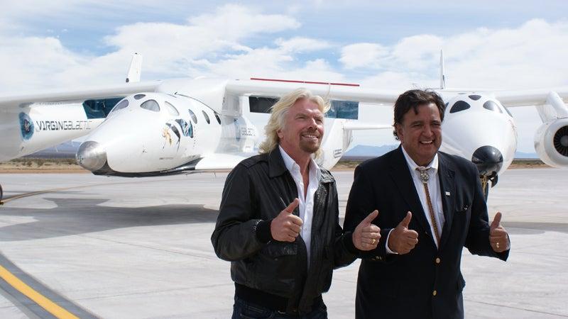 spaceport america richard branson bill richardson new mexico virgin galactic space tourism crash accident