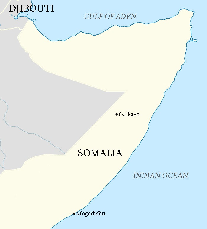After his ransom was paid, Moore was driven to the airport in Galkayo and then flown to Mogadishu.