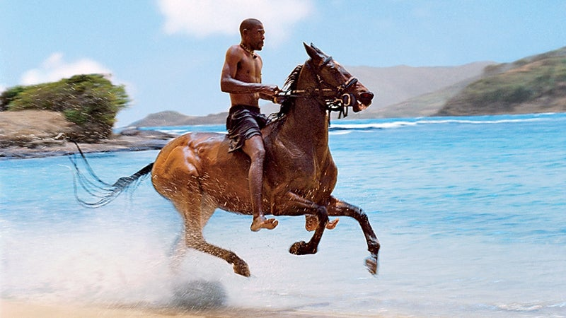 African Descent Alvin Phillipp beach caribbean Cas-En-Bas Beach color image countryside domestic animal equestrian horse horse riding International Pony Club male Mammal native North America one animal racing Recreation Riding Rural scenes St. Lucia Tour tourism travel Tropics vacation Vertical Windward Islands