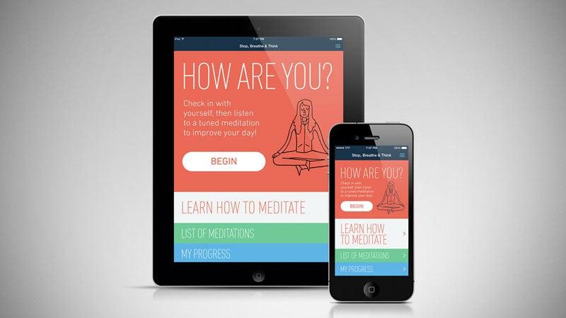 Stop Breathe & Think OutsideOnline apps tech gear best meditation