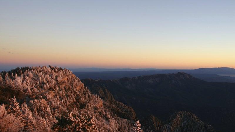 OutsideOnline Sandia Peak sunset best towns running high-altitude New Mexico Santa Fe