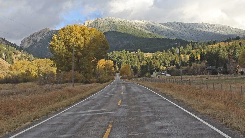 OutsideOnline Bozeman gap mountains road towns best high-altitude running Montana