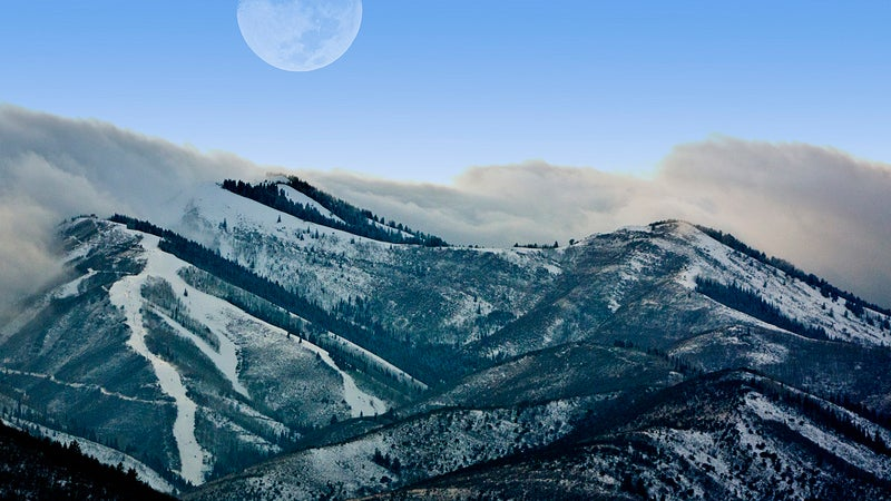 OutsideOnline Park City Utah high-altitude running towns best slopes snow clouds