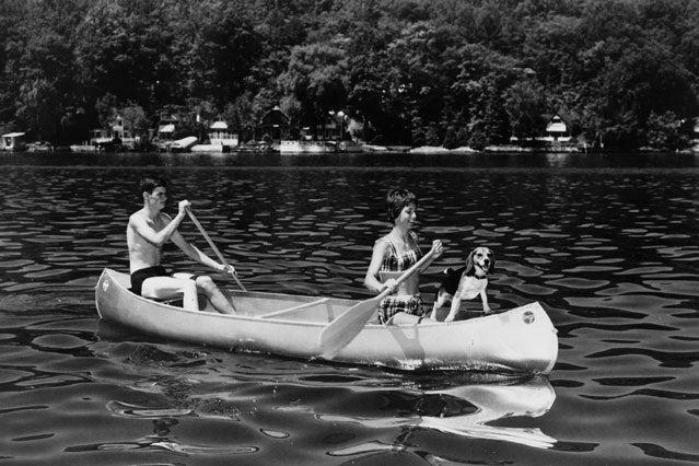 A 1950s-era Grumman canoe