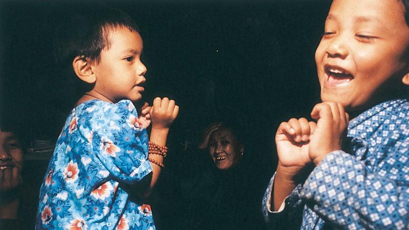 Two of Babu's six daughters—T 2 and Nima 4—in Kathmandu.