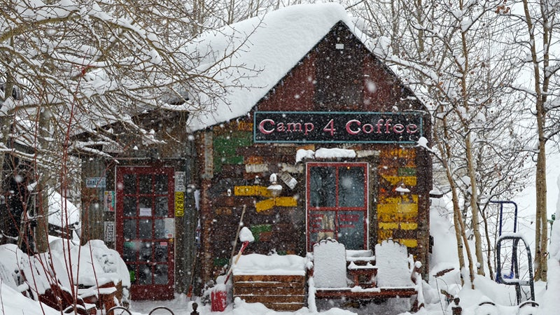 camp 4 coffee outside outside magazine outside online ski bums snow report january issue Elk Mountain Lodge Winter snow channel colorado