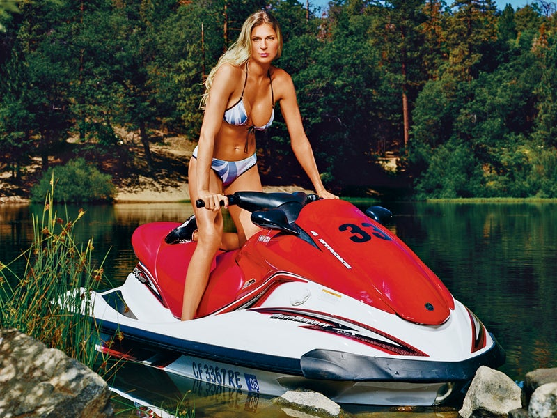 The best thing about raising hell on a jet ski? You won't be able to hear anybody's complaints.