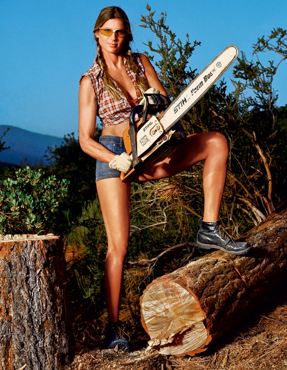 Down, big boy: What is it about chainsawing trees that provides such a thrill?