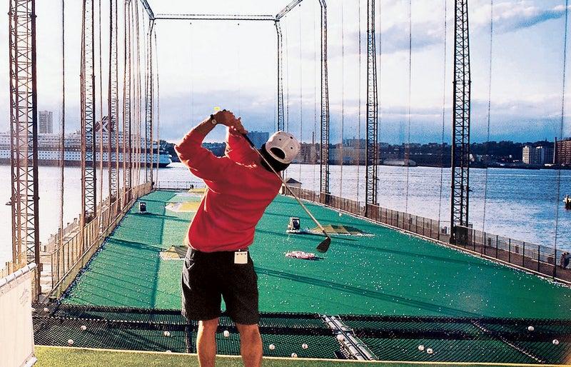 Swing practice at Chelsea Piers.