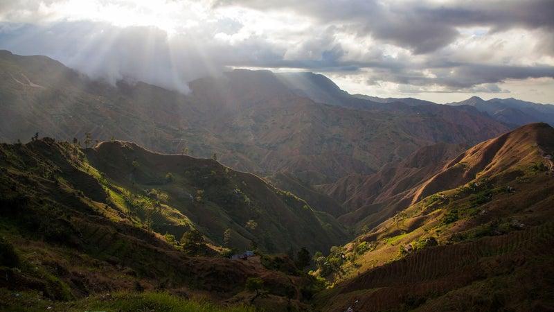 Haiti Mountains Mountain Spirituality Mountain Peak Nature Sunset On Top Of Light High Dawn Sunbeam Loneliness Remote Solitude Day