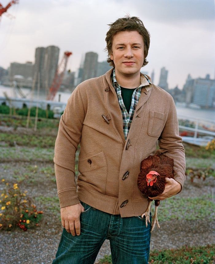 Oliver at the Eagle Street Rooftop Farm in Brooklyn, New York, last November.