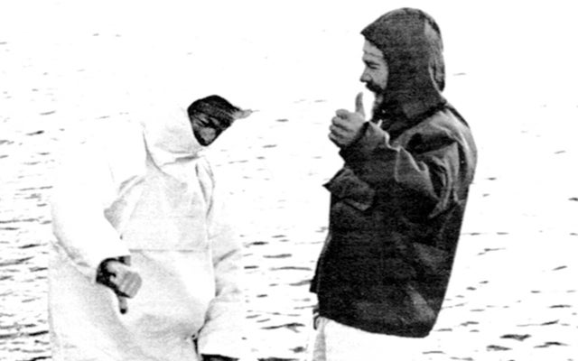An old catalog image showing Gore-Text Rainwear