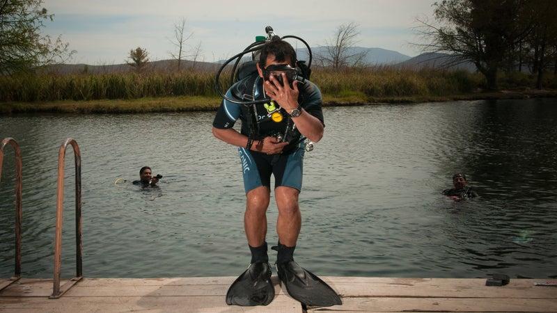 Scuba diving San Luis Potosi.