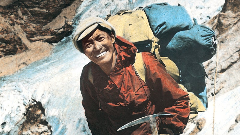 Tenzing Norgay the first Sherpa superstar on the way to Everest in the 19