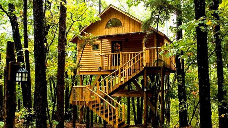 treehouses treehouse cottages travel outside winter