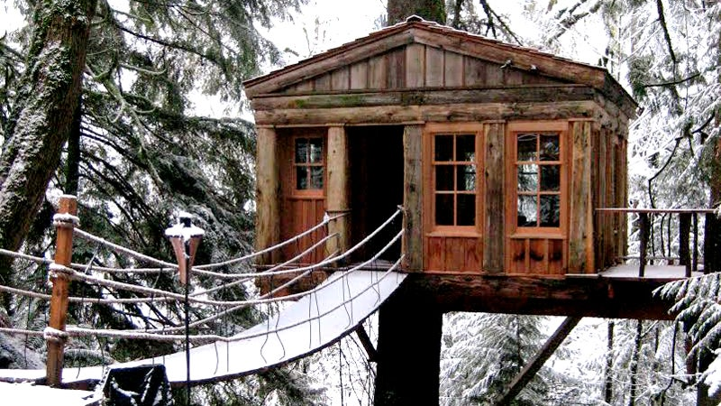 treehouse point travel winter