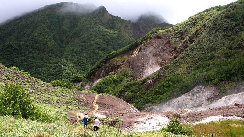 valley of desolation dominica west indies travel