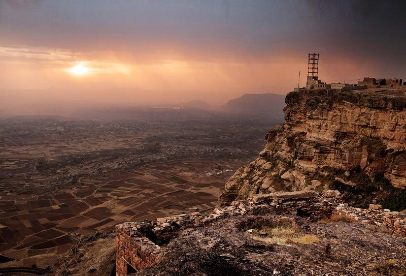 Yemen market mountains trekking rural valley view tourism