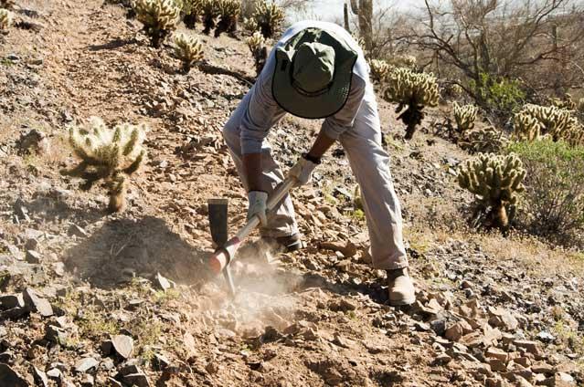 Hiking trail volunteer