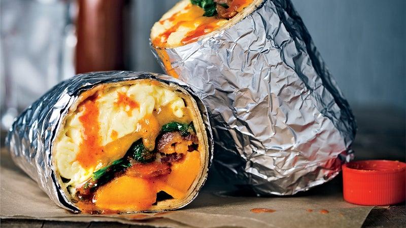 breakfast burrito outside outsidemagzine smoothy