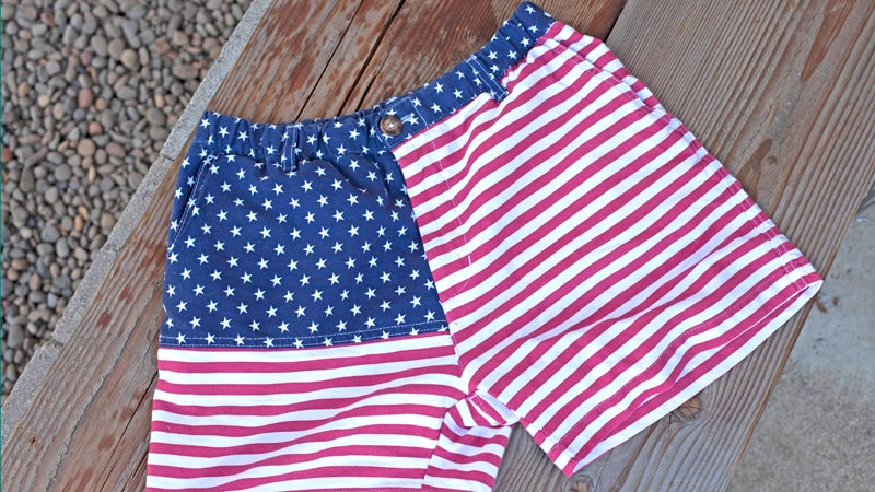 Chubbies 'Mericas Shorts chubbies tailgating fourth of july summer celebration independence day fireworks american made made in america outside outside magazine outside online