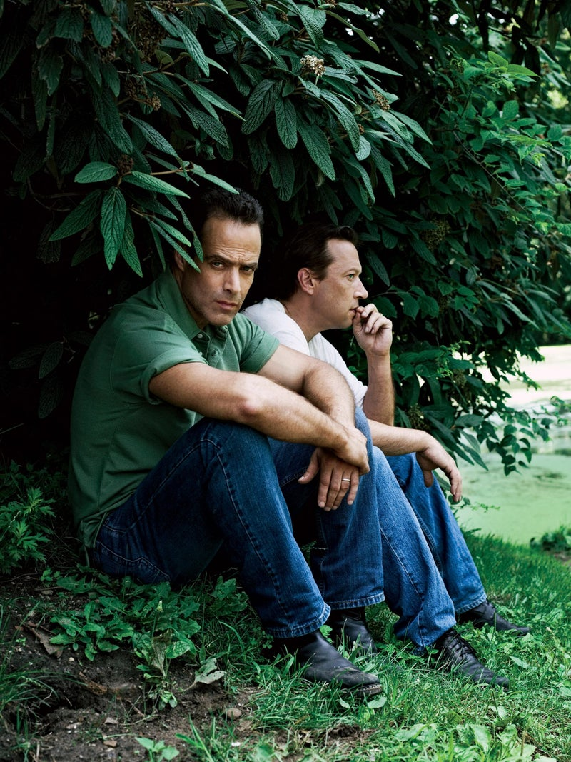 """Junger and Anderson: """"We don't hug."""" Click to enlarge."""