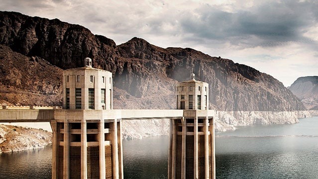 lake mead nevada dam hoover hoover dam travel water river canyons concrete